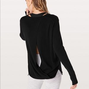 Lululemon Bring it Backbend Sweater, sz 8